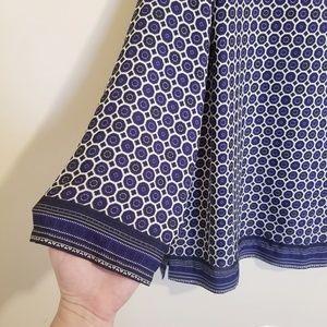 Cynthia Rowley Tops - Cynthia Rowley Navy Dot and Stripe Print Blouse
